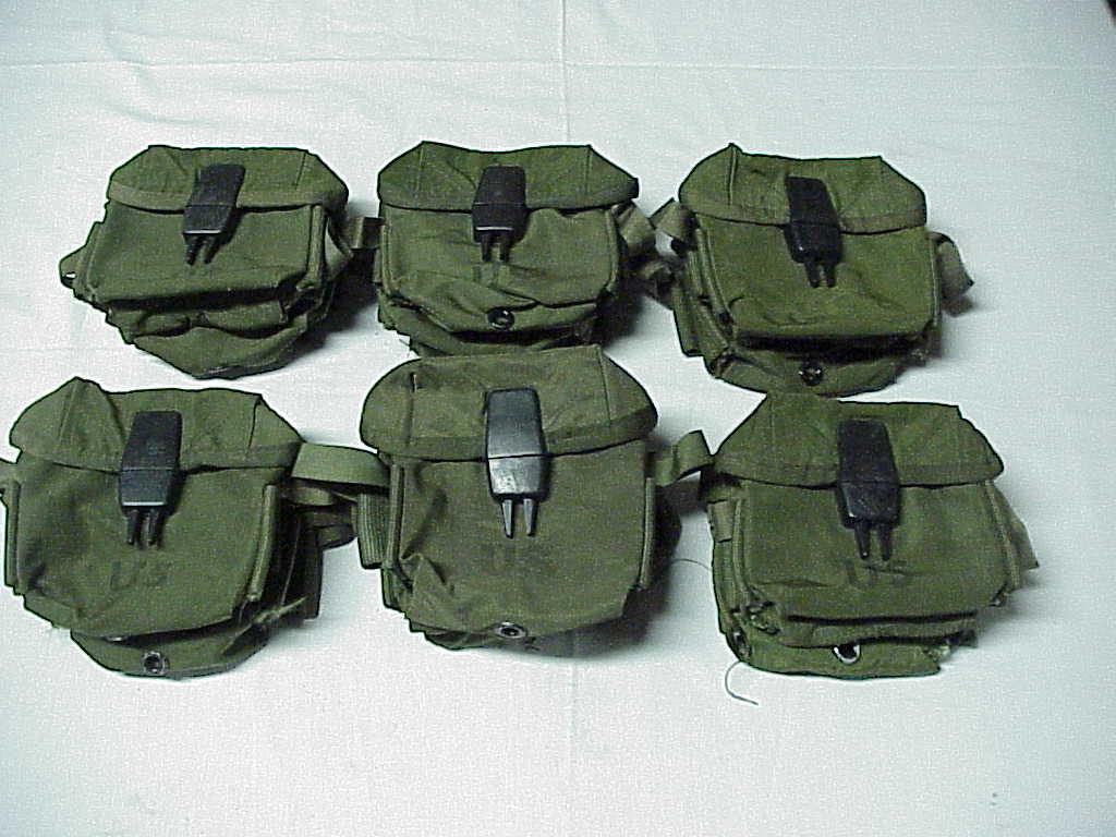 30 ea. US Surplus Vietnam War Era Clear Vinyl Ammo Magazine Bag