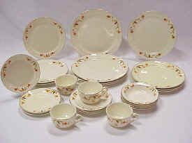 Autumn Leaf China Set for 4 & Jewel Tea Company Collectables
