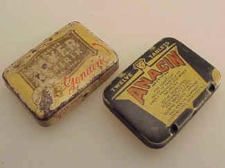 Two Aspirin Tins