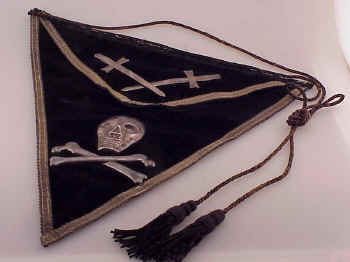 Unusual Masonic Apron with Skull