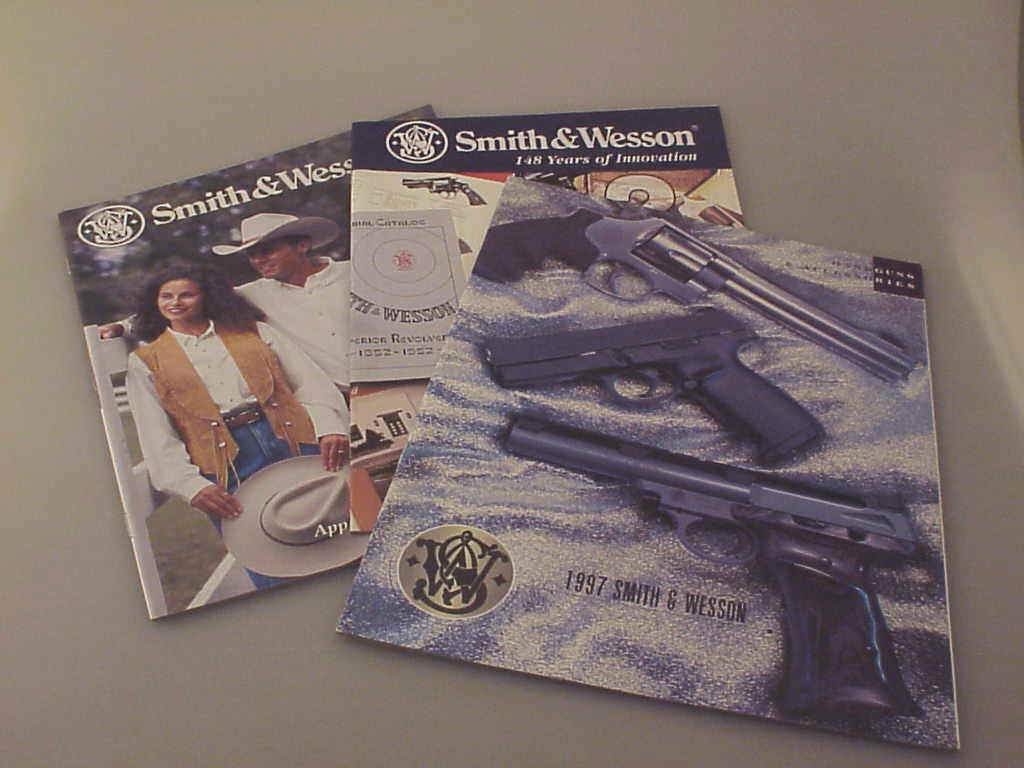 Three Smith & Wesson Company Catalogs