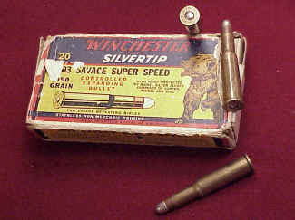 Winchester .303 Savage Silver Tip, Grizzly Box