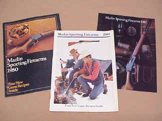 Marlin Gun Company, Three Catalogs 1980, 81, 82