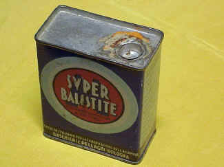 Super Balistite M, Powder Tin, Alcan Co.