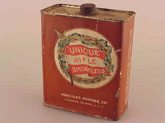 Hercules Gun Powder Tin, Smokeless Unique