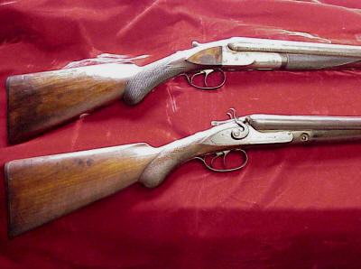 Colt 1883 SxS Double Barrel 10 Gauge Shotgun