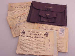 USA WWII Period War Ration Books