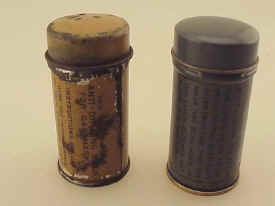 US Military WWI, Pair, Anti-fog, Gas Mask Cans