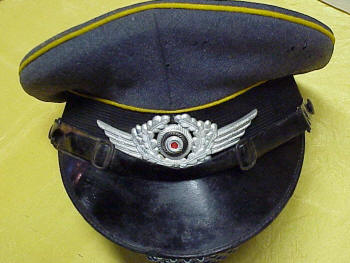 WWII Nazi Dress Visor Cap, Luftwaffe, Enlisted Man