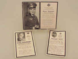 Nazi WWII Funeral Cards
