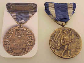 WWI NY State Service Medal