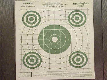 Remington 100 Yard Sighting-in Target
