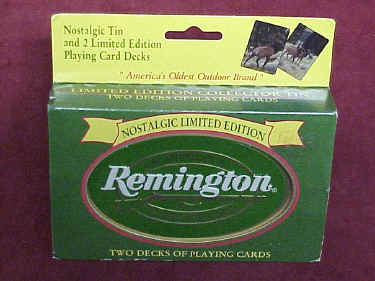 Remington Tin Limited Edition Playing Cards