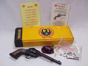 Ruger 3 Screw .22/.22 Magnum Revolver in Box