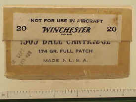 Winchester Military Ball Cartridges .303