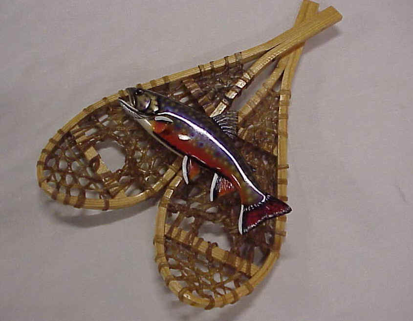 Local Artisan's Carved Wood Trout