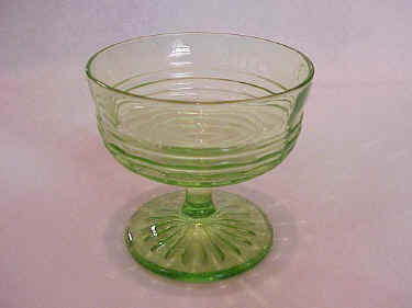 Hocking Glass Company Circle Pattern Green Sherbet