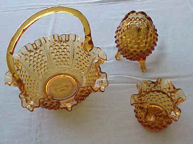 Fenton Glass Company Amber Accessory Pieces Item No. 3854