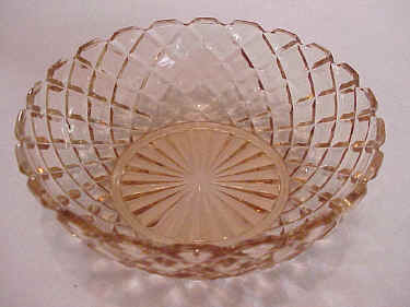 Hocking Glass, Waffle Pattern Cereal Bowl