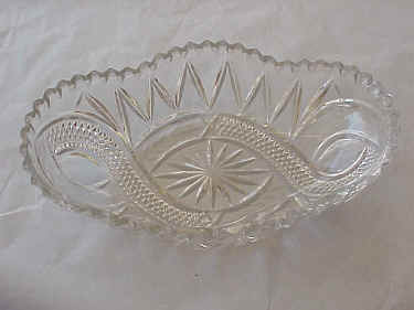 Pressed Glass Celery Dish