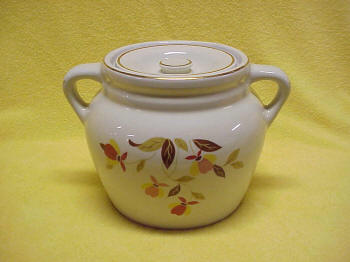Hall Autumn Leaf Two Handle Bean Pot