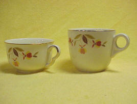 Autumn Leaf St Denis Coffee Cups (4)