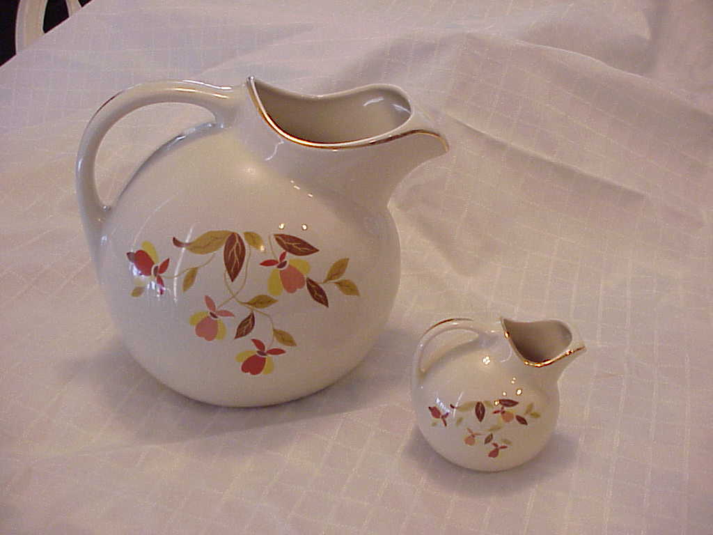 Miniature Autumn Leaf Ball Jug