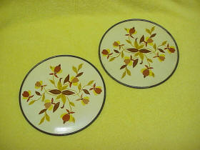 Jewel Tea Autumn Leaf Round Hot Pad