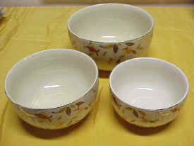 Jewel Tea Three Piece Nesting Mixing Bowl Set
