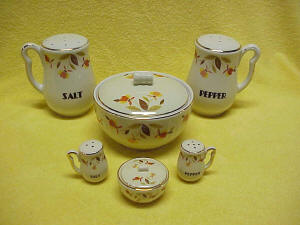 Autumn Leaf Jewel Tea Miniature Range Set