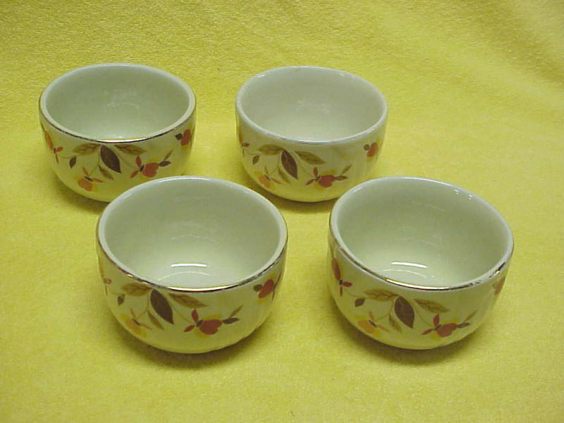 Autumn Leaf Jewel Tea Custard Cups