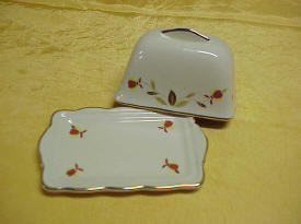 Autumn Leaf Jewel Tea One Pound Butter Dish Miniature