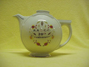 Autumn Leaf Pattern NALCC 20th Anniversary Basketball Teapot