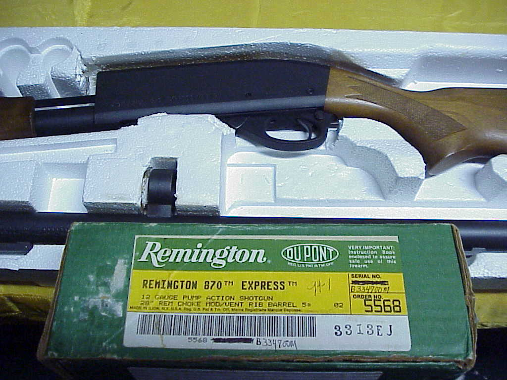 remington model 870 express hardwood pumpaction